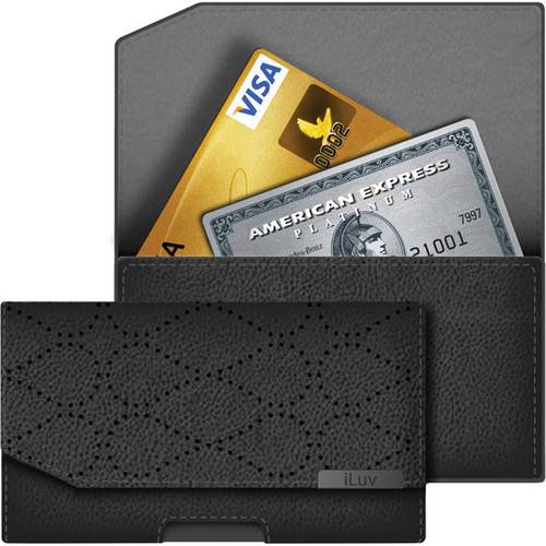 iLuv Artisan Clutch Case for iPhone 5 (Black)
