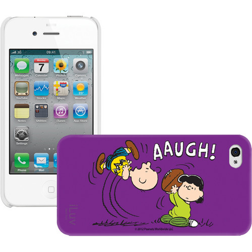 iLuv Snoopy Character Series - Hardshell Case for iPhone 4S / 4 (Purple)