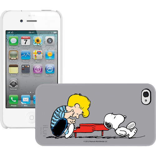 iLuv Snoopy Character Series - Hardshell Case for iPhone 4S / 4 (Gray)