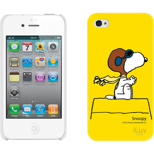 iLuv Snoopy Character Series - Hardshell Case for iPhone 4S / 4 (Yellow)