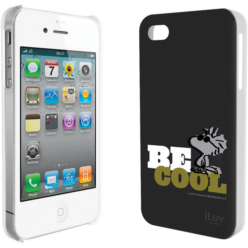 iLuv Snoopy Behavior Series - Hardshell Case for iPhone 4S / 4 (Black)