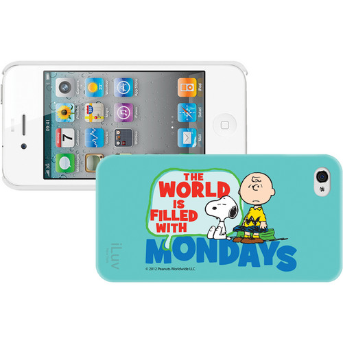 iLuv Snoopy Message Series - Hardshell Case for iPhone 4S / 4 (Blue)