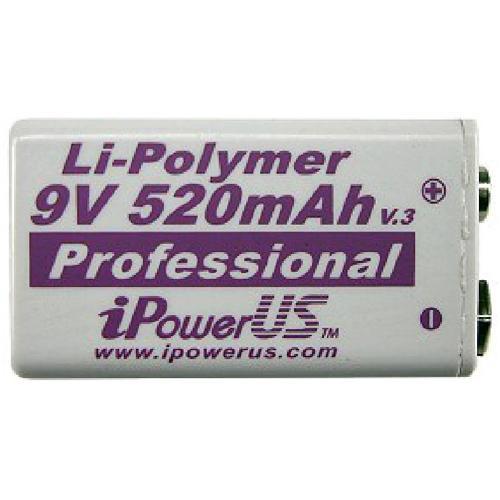 iPower 9V Li-Polymer 520mAh Battery