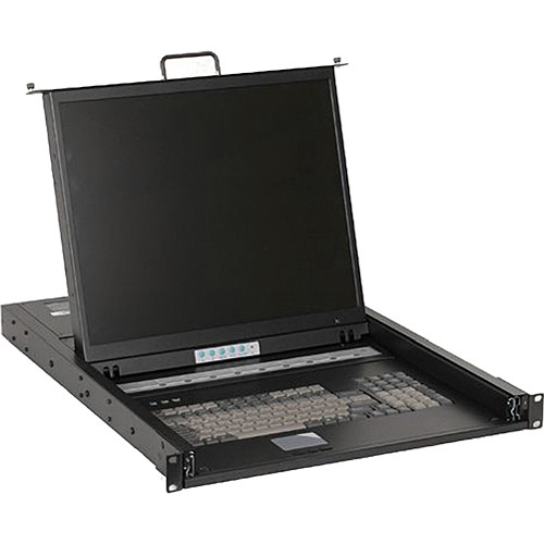 "iStarUSA WL-21908 1U Rackmount 19"" TFT LCD Keyboard Drawer with Built-In 8-Port KVM"