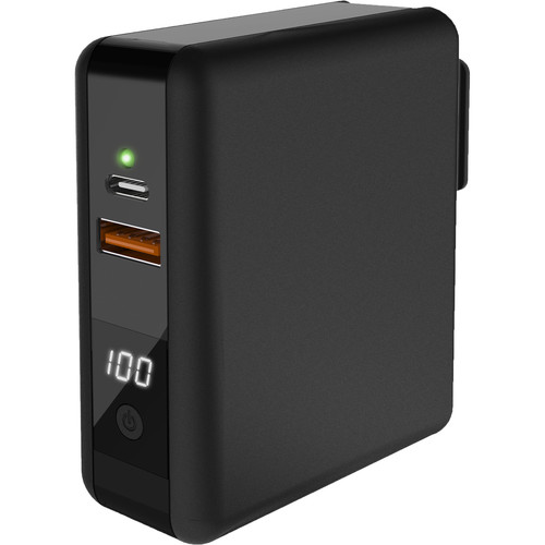 I/OMagic 9KmAh Super AC Fast Charging Power Bank with Type C Port and 2 USB Ports and Qi Power