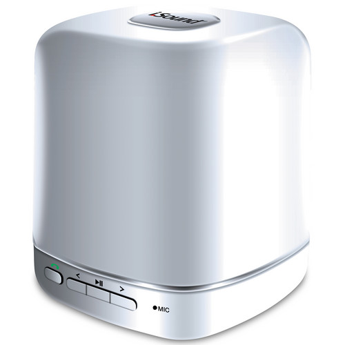 i.Sound Listen Up Rechargeable Portable Speaker & Speakerphone (White)