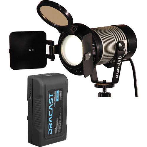 Ianiro Aladino On-Camera LED Light with 90Wh V-Mount Battery Kit