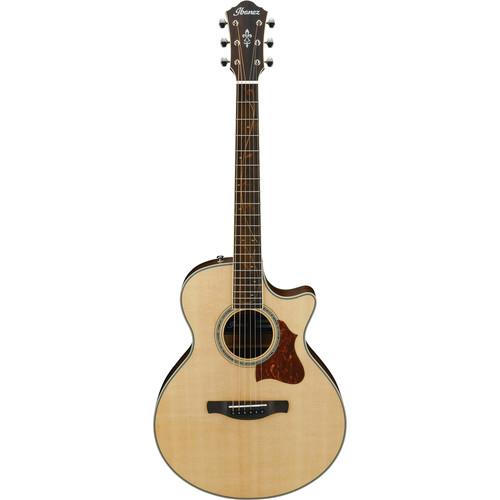 Ibanez AE205JR AE Semi-Acoustic /Electric Guitar - Open Pore Natural