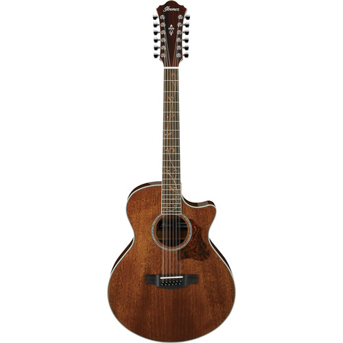 Ibanez AE2412 12-String Electric/Acoustic Cutaway Guitar (Natural High Gloss)