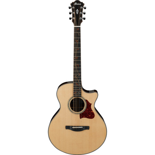 Ibanez AE255BT AE Series Baritone Acoustic/Electric Guitar (Natural High Gloss)