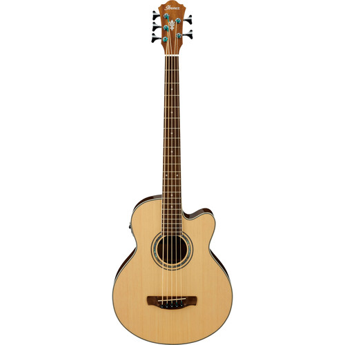 Ibanez AEB105E AEB Series Acoustic/Electric Bass (Natural High Gloss)