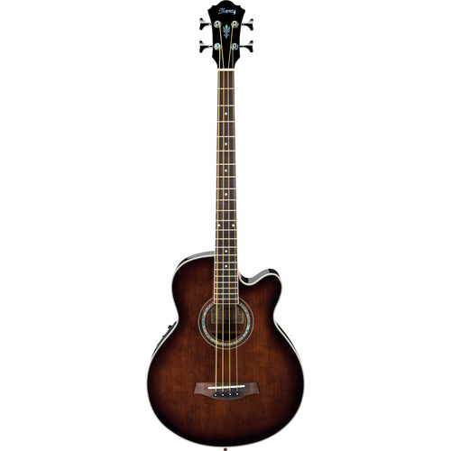 Ibanez AEB10E AEB Series Acoustic/Electric Bass (Dark Violin Sunburst High Gloss)