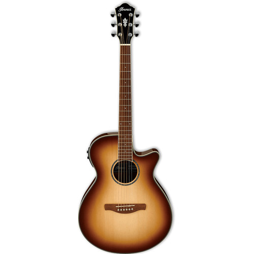 Ibanez AEG10II Acoustic/Electric Guitar (Natural Browned Burst)