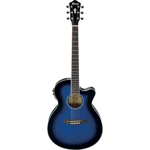 Ibanez AEG10II Acoustic/Electric Guitar (Transparent Blue Sunburst)