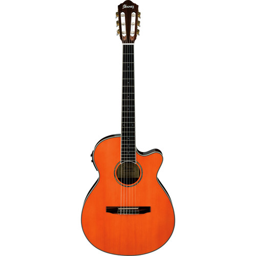 Ibanez AEG10NII Acoustic/Electric Classical Guitar (Tangerine)