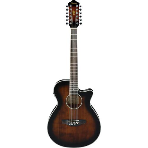 Ibanez AEG1812II AEG Series 12-String Acoustic/Electric Guitar (Dark Violin Sunburst High Gloss)