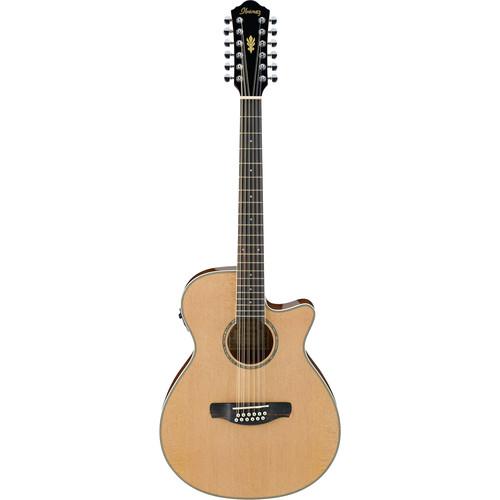 Ibanez AEG1812II AEG Series 12-String Acoustic/Electric Guitar (Natural High Gloss)
