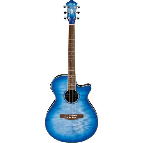 Ibanez AEG19II AEG Series Acoustic/Electric Guitar (Ocean Blue Burst Gloss)