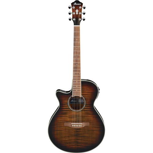 Ibanez AEG19LII AEG Series Acoustic/Electric Guitar (Left-Handed, Tiger Burst High Gloss)