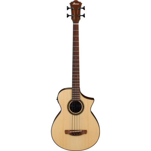 Ibanez Ibanez AEWB32 AEW Series Acoustic/Electric Bass (Natural High Gloss)