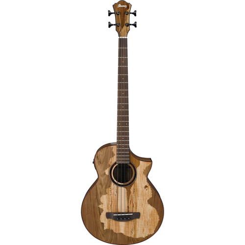 Ibanez AEWB50 Exotic Wood Series Acoustic/Electric Bass Guitar (Natural)