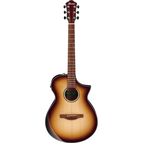 Ibanez AEWC300 AEW Series Acoustic/Electric Guitar (Natural Browned Burst)