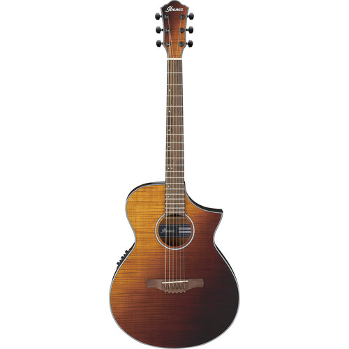 Ibanez AEWC32FM AEW Series Acoustic/Electric Guitar (Amber Sunset Fade)