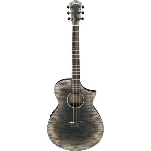 Ibanez AEWC32FM AEW Series Acoustic/Electric Guitar (Glacier Black, Low Gloss)