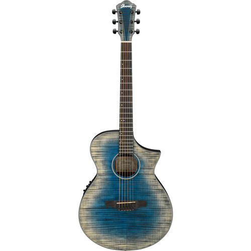 Ibanez AEWC32FM AEW Series Acoustic/Electric Guitar (Glacier Blue, Low Gloss)