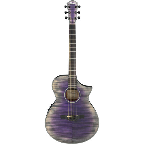 Ibanez AEWC32FM AEW Series Acoustic/Electric Guitar (Glacier Violet, Low Gloss)