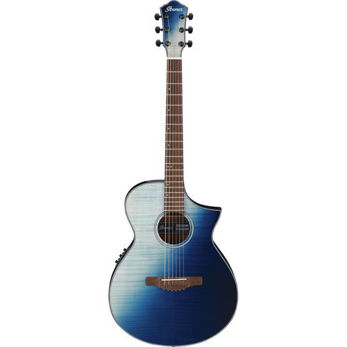 Ibanez AEWC32FM AEW Series Acoustic/Electric Guitar (Indigo Sunset Fade)