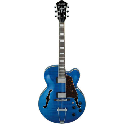Ibanez AF75FM Artcore Series Hollow-Body Electric Guitar (Transparent Blue)