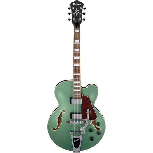 Ibanez AFS75T AFS Artcore Series Hollow-Body Electric Guitar (Metallic Green Flat)