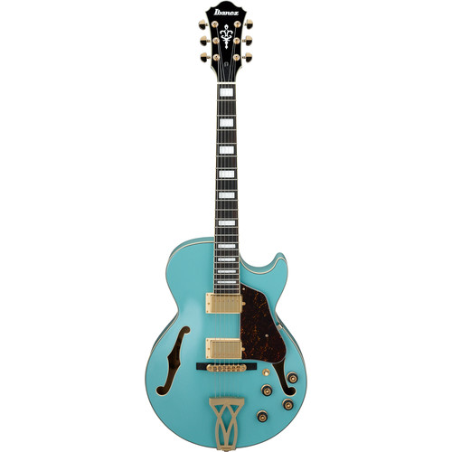 Ibanez AG75G Artcore Series Hollow-Body Electric Guitar (Mint Blue)
