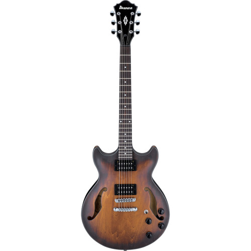 Ibanez AM73B Artcore Series Hollow-Body Electric Guitar (Tobacco Flat)