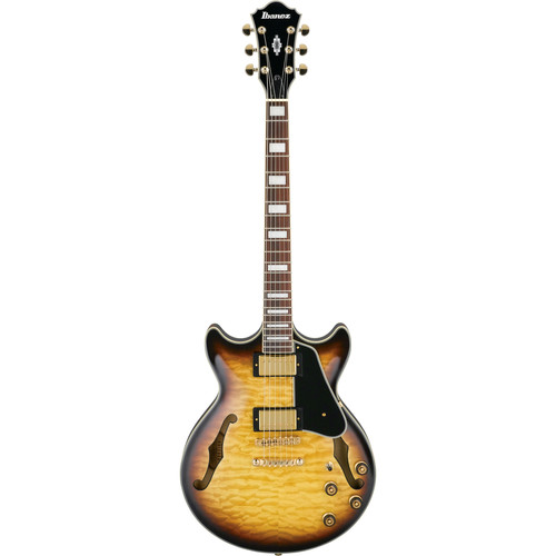 Ibanez AM93 Artcore Expressionist Series Hollow-Body Electric Guitar (Antique Yellow Sunburst)
