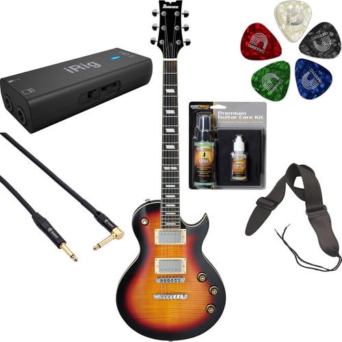 Ibanez ARZ200FM ARZ Standard Series Electric Guitar Recording Starter Kit (Tri Fade Burst)