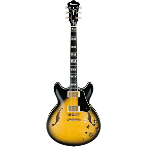Ibanez AS200 Artstar Prestige Series Hollow-Body Electric Guitar (Vintage Yellow Sunburst)