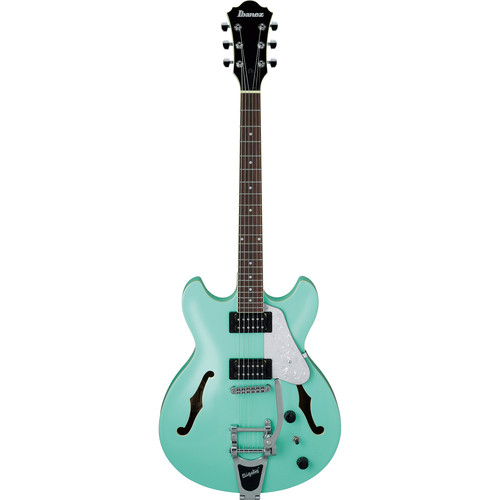 Ibanez AS Artcore Vibrante 6-String Semi-Hollow Electric Guitar with Bigsby - Sea Foam Green