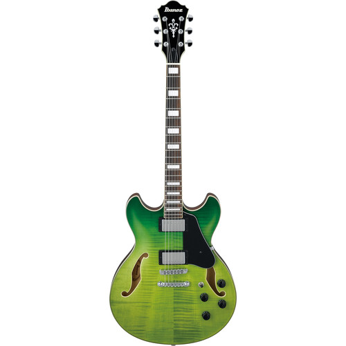 Ibanez AS73FM AS Artcore Series Hollow-Body Electric Guitar (Green Valley Gradation)