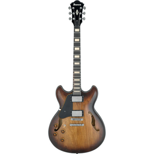 Ibanez ASV10AL Artcore Vintage Series Hollow-Body Electric Guitar (Left-Handed, Tobacco Burst Low Gloss)