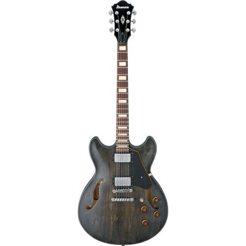 Ibanez ASV10A Artcore Vintage Series Hollow-Body Electric Guitar (Transparent Black Low Gloss)