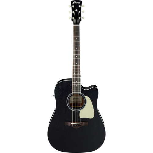 Ibanez AW360CE Artwood Series Acoustic/Electric Guitar (Weathered Black, Open Pore)