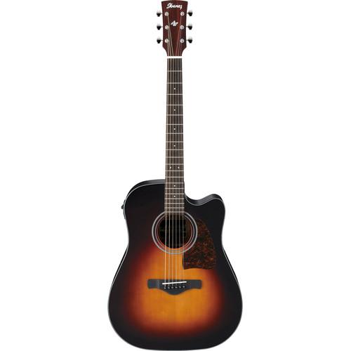 Ibanez AW400CE Artwood Series Acoustic/Electric Guitar (Brown Sunburst)