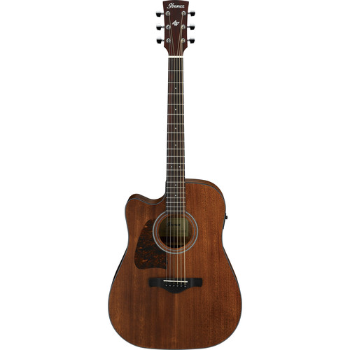 Ibanez AW54CE Artwood Series Acoustic/Electric Guitar (Left-Handed, Open Pore Natural)