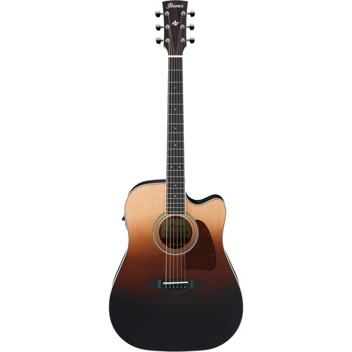 Ibanez AW80CE Artwood Series Acoustic Guitar (Brown Ale Gradation)