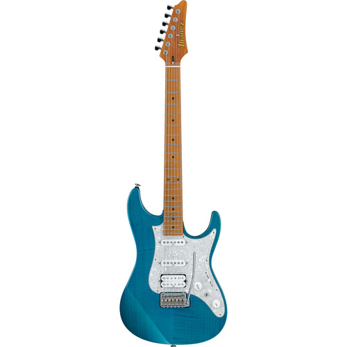 Ibanez AZ2204F Prestige Series Electric Guitar (Transparent Aqua Blue)