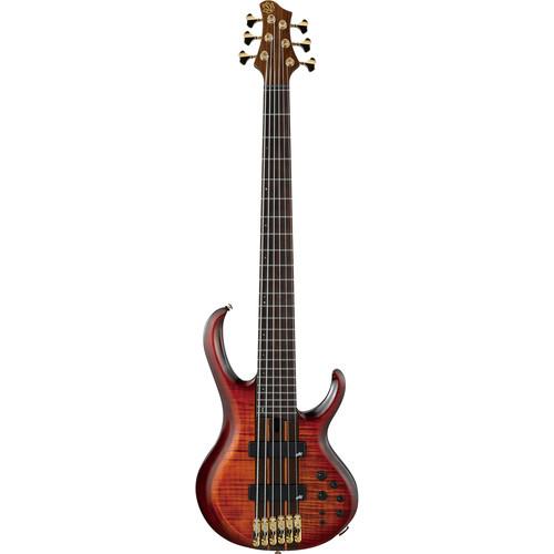 Ibanez BTB1906E BTB Premium Series 6-String Electric Bass (Brown Topaz Burst Low Gloss)