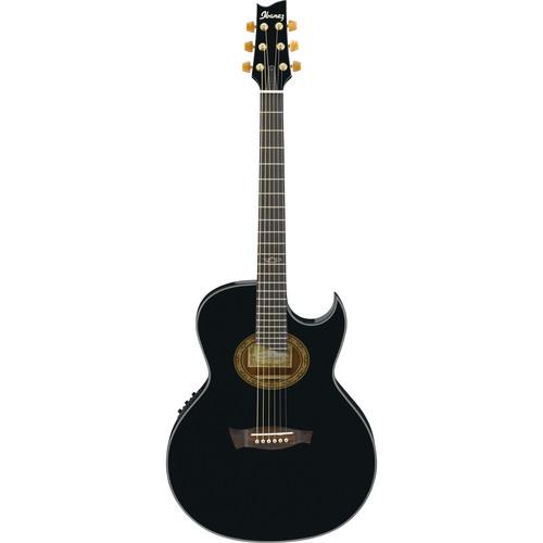 Ibanez EP5 Steve Vai Euphoria Series Acoustic/Electric Guitar (Black Pearl High Gloss)