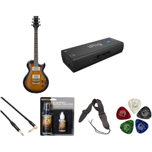 Ibanez GART60FA GIO Series Electric Guitar Starter Recording Kit (Sunburst)